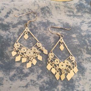 Lia Sophia Indian inspired silver dangly earrings